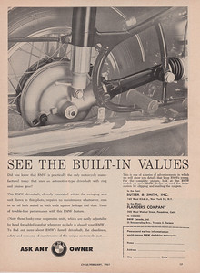 BMW ad Cycle 1961 built in values