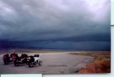 First storm west to east Hwy 50 south of Grand Junction, Co  NICE :)