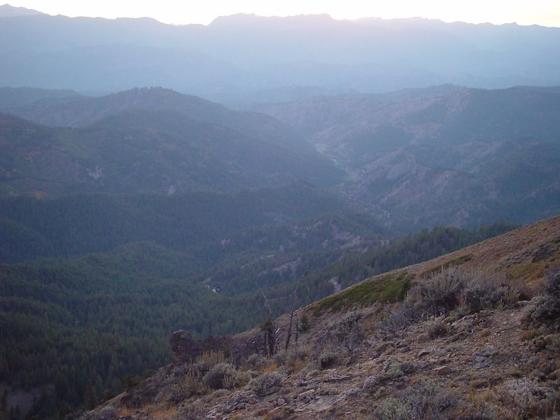 View of the valley from our camp site on the top of Chumstick mountain.