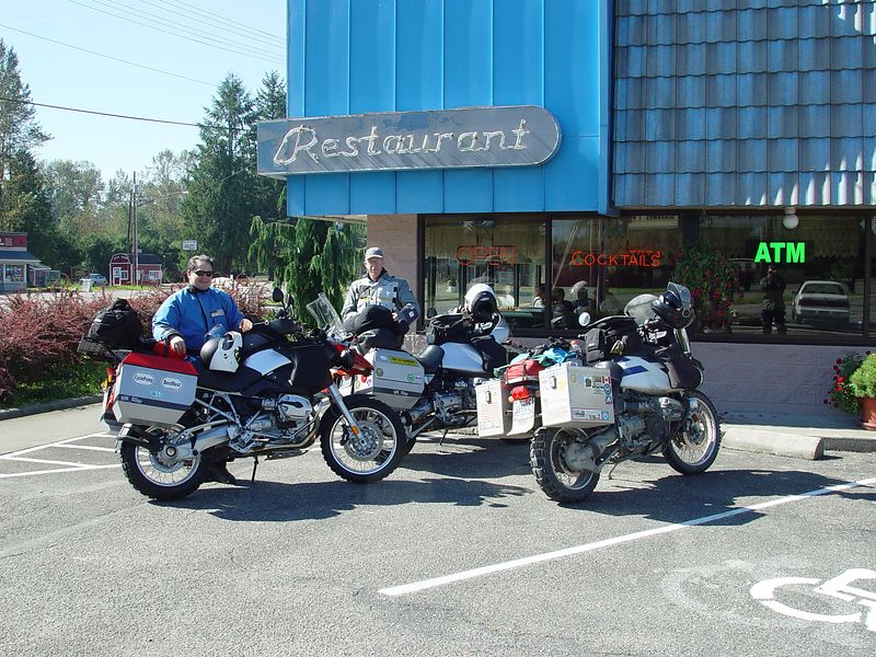 I met my riding partners for the weekend, Dave and Steve, at the Dutch Cup restaurant in Sultan.