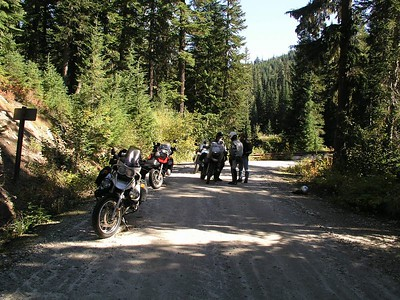 "Stopping to ""air-down"" for the dirt roads.  Dropping your tire pressure makes a HUGE difference in how the bike handles."