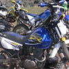 Deby's DR200 with Donn's WR250 behind.