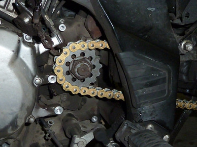 new chain, new countershaft sprocket.