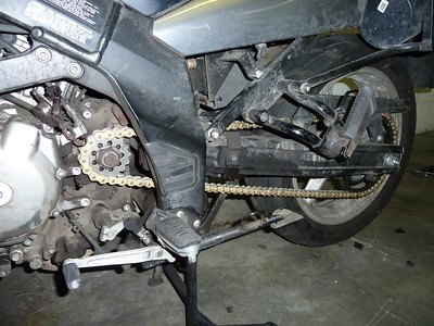 new chain and sprockets! still need to place the clutch mechanism.