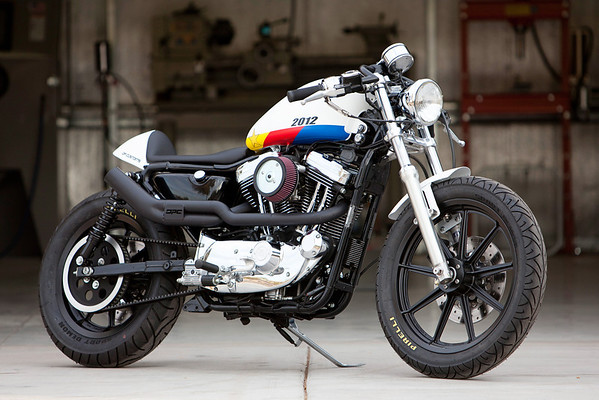 Sportster Cafe Racer Exhaust Opinions Its A 2 Into 1 With Small Baffle In It So Not Crazy Loud Also Decent Leg Clearance