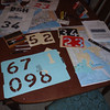 Making rally flags -- cutting more stencils