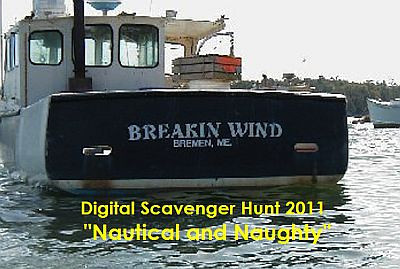 """One of the two logos for The Long Riders Digital Scavenger Hunt 2011 """"Nautical and Naughty"""""""