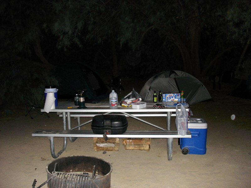Camp on Sat. night.