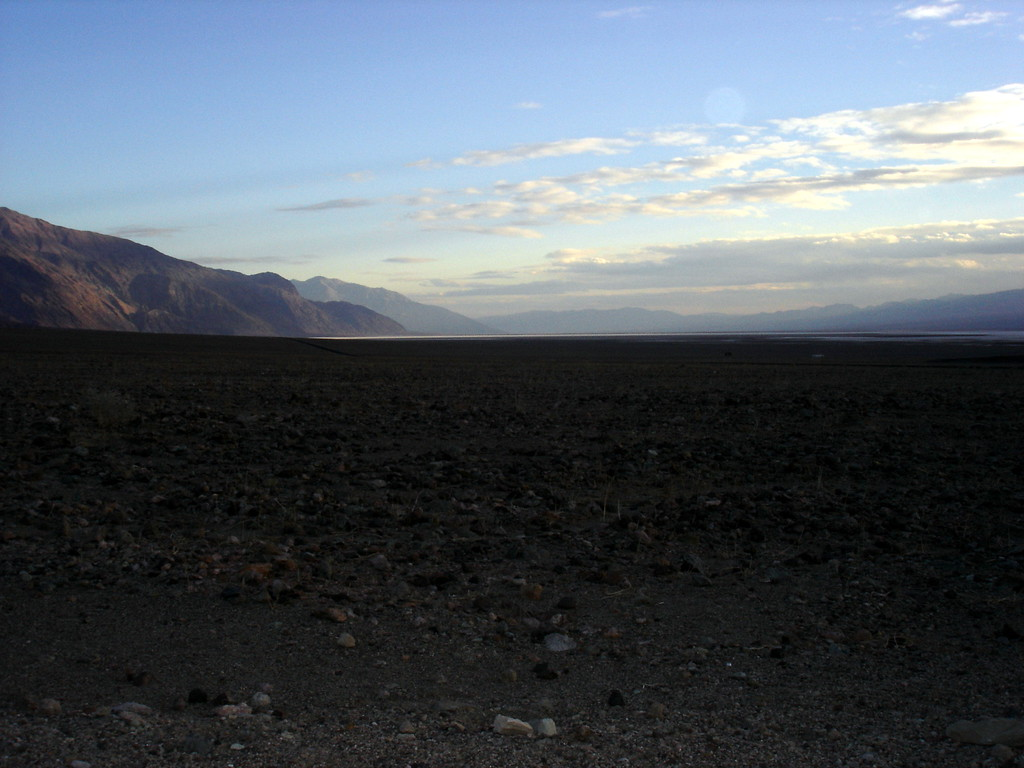 </br> Death Valley.  Looking towards Badwater from Artist's Drive DVNP. </br>
