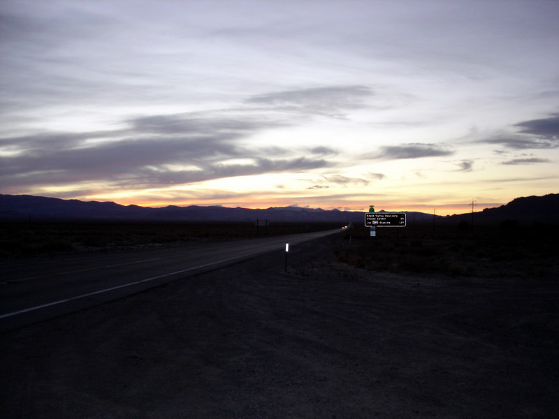 </br> Leaving Death Valley, looking east from CA Hwy 190. </br>