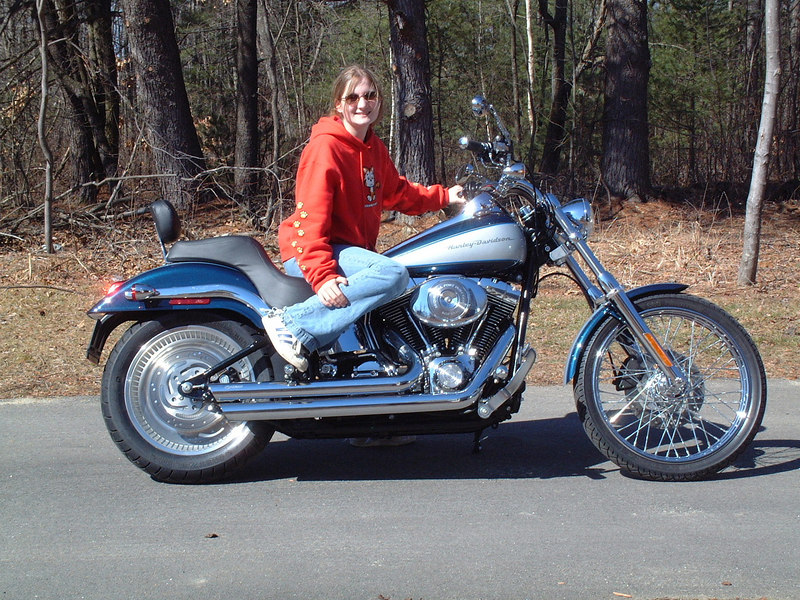 Girls look better on this bike than I do.  That's Grace.