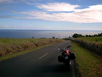 The road from the house to Hwy 19. Final descent to Paauilo.