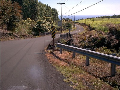 The road down from the house.