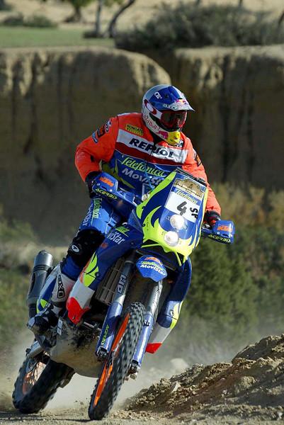 Nani Roma in the 2003 Dakar Rally.