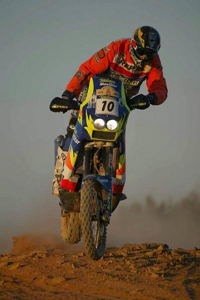 Marc Coma on a KTM 660 in the 2003 Dakar Rally.