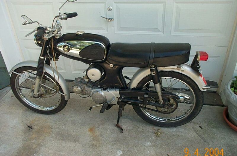 1965 Honda S90. First bike at 16 in Knob Noster MO.