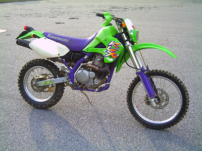 93 KLX650R, dirt version with Baja Design dual sport kit and plated. At 47 in 1997 I got back into trail riding and had a blast four four years on this. A bit heavy and top weighted.