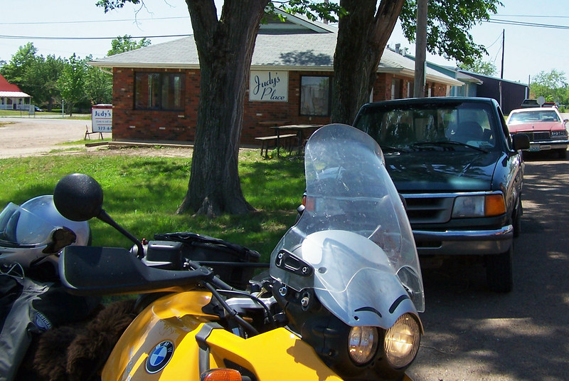 We took a variation of the 'Foolish Things To Do On April 1' ride.<br /> This time we stopped @ Judy's Place in Bland, MO. I had an awesome 12 oz cheeseburger there. Thumbs up to Judy.