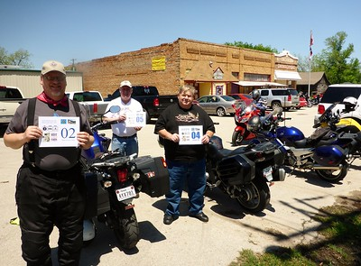 Me Jeff and Rex getting our points for the Texas Small Town Cafe Tour at Sue's Roost in Eustace Texas!