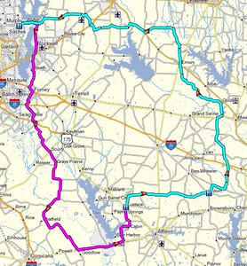 A nice 113 mile ride to Eustace and a 144 mile return route.  All from Wylie.