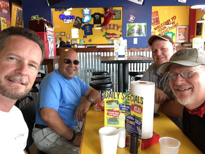 Started the day with breakfast at Fuzzy's Tacos in Roanoke with Marc, Mike, and Stephen.