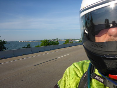 Crossing lake Ray Hubbard on the way to the meetup in Rockwall to start the ride.