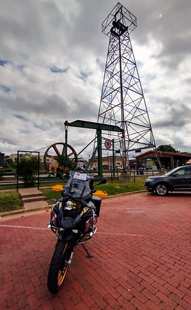 Third stop is the Oil Derrick in Gladewater