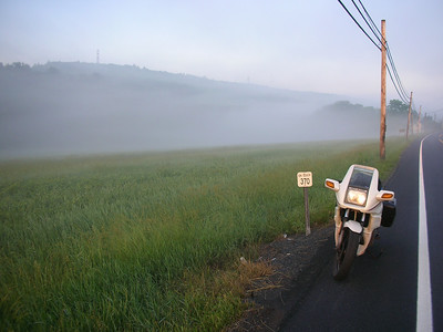 PA 209 and morning mist