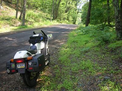 Gravel road in DWG recreation area.