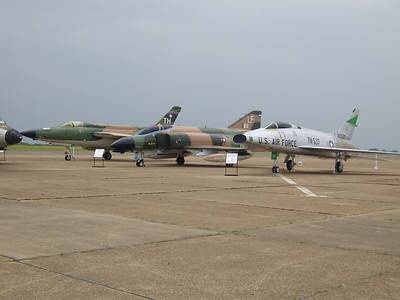 F-105 Thunderchief, F-4 Phantom, and I am not sure of the other.