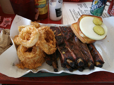 Check out the Ribs and Onion Rings!!!