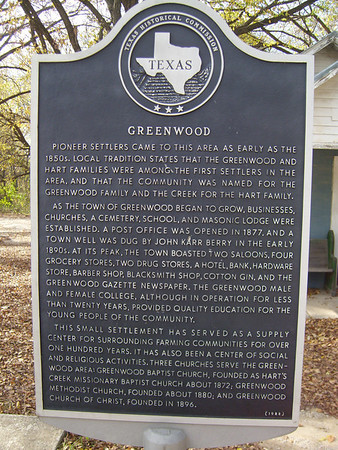 A little history about Greenwood, TX.