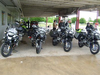 Break and gas stop NW of Paris