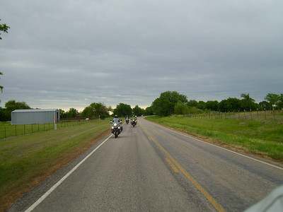Randy and the other 8 bikes on the route