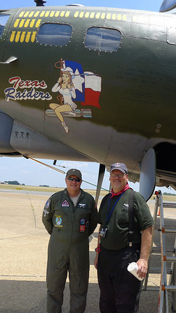 Here I am with Col. Rex McLain of the Texas Raiders crew.  Thanks to Terri for this picture.