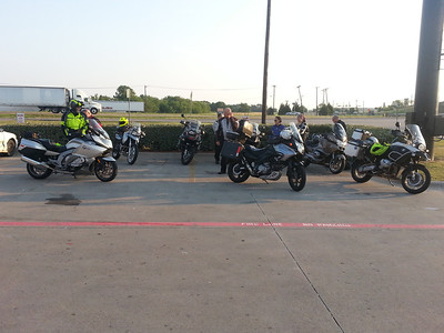 Gathering at the Love's Travel Stop in Rockwall
