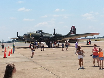 B-17G at the museum static display.  It will perform a fly-by at 8pm tonight at the Thunder Over Cedar Creek Airshow.  It is one of only 11 B-17s that remain flying and is based in Spring, TX.