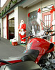 My R1150R keeps Santa company.