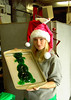 Elizabeth Clark shows off a very limey Grinch made of Jello.