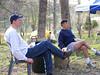 Jim Honz and Ken Brown relaxing after Saturday breakfast.