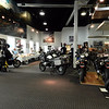 Honz cleared out the showroom a little to make room for people.