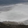 Looking down on Badwater, behind the ridge.