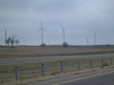 Wind farm in Oklahoma.