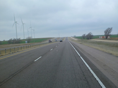 Very windy in Oklahoma. Note the trees on the right!