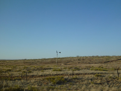 Windmill on the plain.
