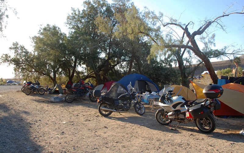 Riders from all over pull into camp and setup for the weekend adventures.