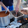 Jimmy Campbell whips up a little carne asada gourmet meal for the 120 member throng of ADVriders.