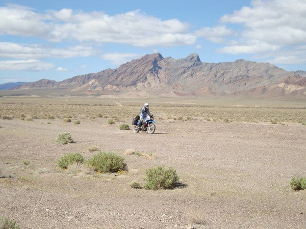 Dry Lake bed seveal miles north of Death Valley Junction Day 7