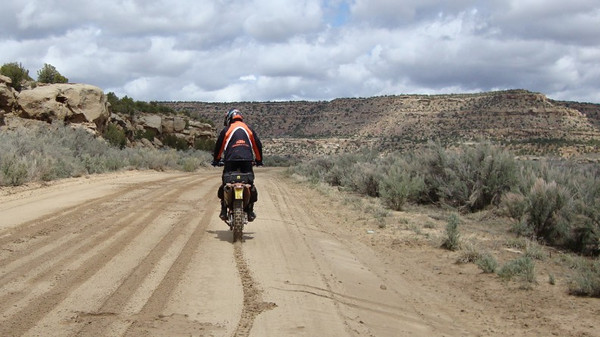 Johnny on muddy Largo Canyon rd north of Counselor Day 1.  Only two of us took this road.