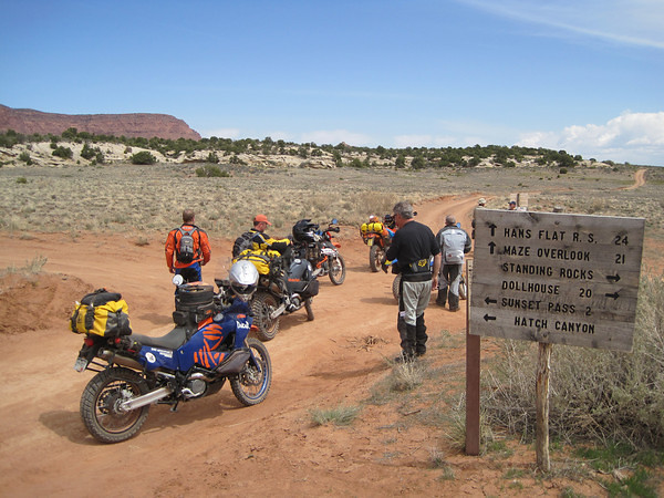 Road to Flint Trail/Maze junction.  Doll House/Dirty Devil junction Day 3